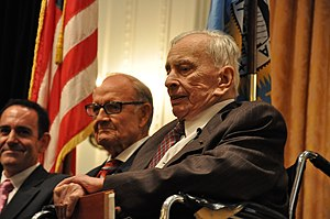 Gore Vidal and Senator George McGovern at the ...
