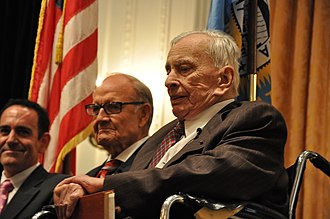 Gore Vidal - Vidal and ex-senator George McGovern at the Richard Nixon Presidential Library and Museum, August 26, 2009