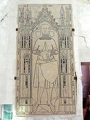 Grabplatte für Pierre de Pedou