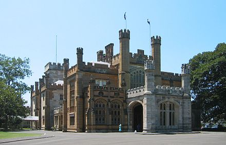 Government House, Sydney, the official residence of the governor Government House in Sydney.jpg
