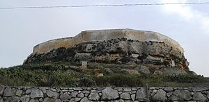 Cittadella (Gozo) - The 15th-century northern walls of the Cittadella (before restoration)