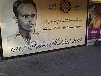 Frane Matošić - Frane Matošić in a mural in Split