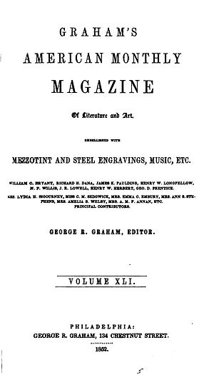 Graham's Magazine - Title page for Graham's Magazine, June 1852