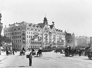 Wilhelmina Skogh - Grand Hôtel, Stockholm, photo from 1901, one year before Wilhelmina Skogh was appointed general manager for the hotel.