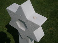 Grave with Star of David in Normandy American Cemetery and Memorial
