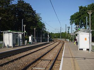 Gravel Hill tram stop - Gravel Hill tram stop, looking east