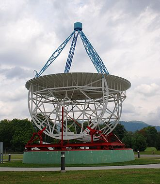 Grote Reber - Reconstructed Reber Radio Telescope at National Radio Astronomy Observatory in Green Bank, West Virginia