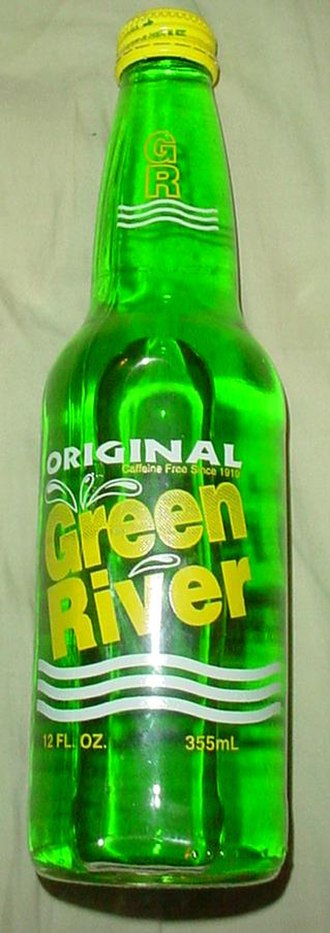 Green River (soft drink) - Image: Green River bottle