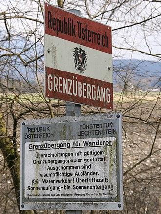 Liechtenstein National Police Force - Image: Grenze A FL01