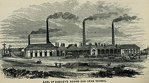 Round Oak Steelworks - The Round Oak Ironworks in the 1870's