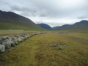 Battle of Haugsnes - The site of the battle. 1100 boulders have been arranged in battle order, each representing a combatant.