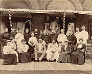 Group at Residency including the Maharaja of Kolhapur