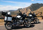 BMW R 1200 GS at Montezuma Pass in Arizona