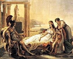 Ο Αινείας εξιστορεί στη Διδώ τα σχετικά με την πτώση της Τροίας. Ζωγραφικός πίνακας του Pierre-Narcisse Guérin.