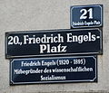 GuentherZ 2013-05-22 0588 Wien20 Friedrich-Engels-Platz Strassentafel mit Zusatztafel.JPG