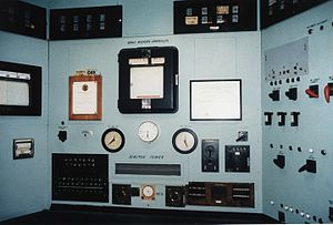 Manhattan Project National Historical Park - Controls of the X-10 Graphite Reactor