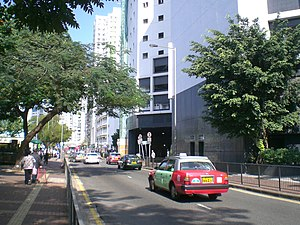 HK CWB Hing Fat Street Park Towers west Taxi.JPG