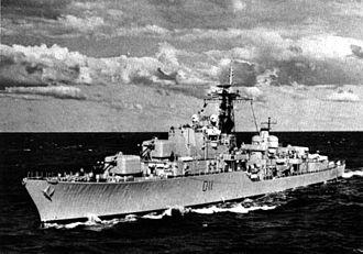 HMAS Vampire (D11) - Vampire in 1962