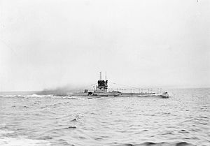 HMS E42 on trials