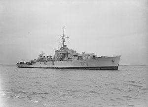 HMCS Nene (K270) - Image: HMS Nene 1943 IWM FL 16727