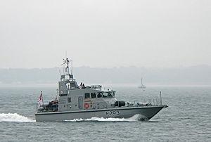 HMS Ranger (P293) - Image: HMS Ranger P293 BB