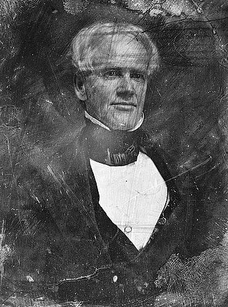 Horace Mann - Original daguerreotype of Rep. Mann (Mass.) from Mathew Brady's studio, c. 1849.