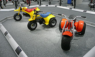 Honda, Suzuki and Yamaha all-terrain vehicles HONDA ATC70 and SUZUKI ALT50 TRAILBUDDY and YAMAHA TRI-ZINGER YT60.jpg