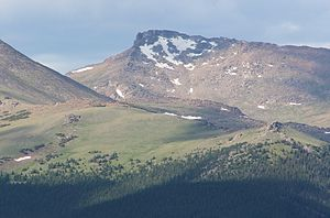 Hagues Peak - Image: Hagues Peak viewed from Trail Ridge Road