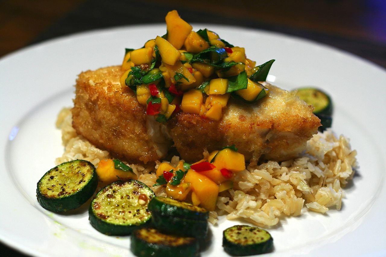 Salsa Brown Rice Salmon My Kitchen Rules