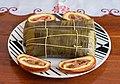 Hallacas con pan de jamon, Venezuelan food.jpg