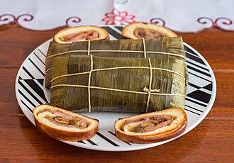 Hallaca - Hallaca and Pan de jamón