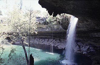 Hamilton Pool Preserve - Waterfall during high water
