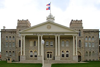 Hamilton County, Texas - Image: Hamilton county tx courthouse 2014
