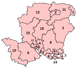 Proposed Revised constituencies in Hampshire
