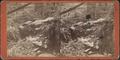 Hanging Stone or Natural Bridge in Ravine, near Brandon House, Greenwood Lake, by Thomas, William C., fl ca. 1880.png