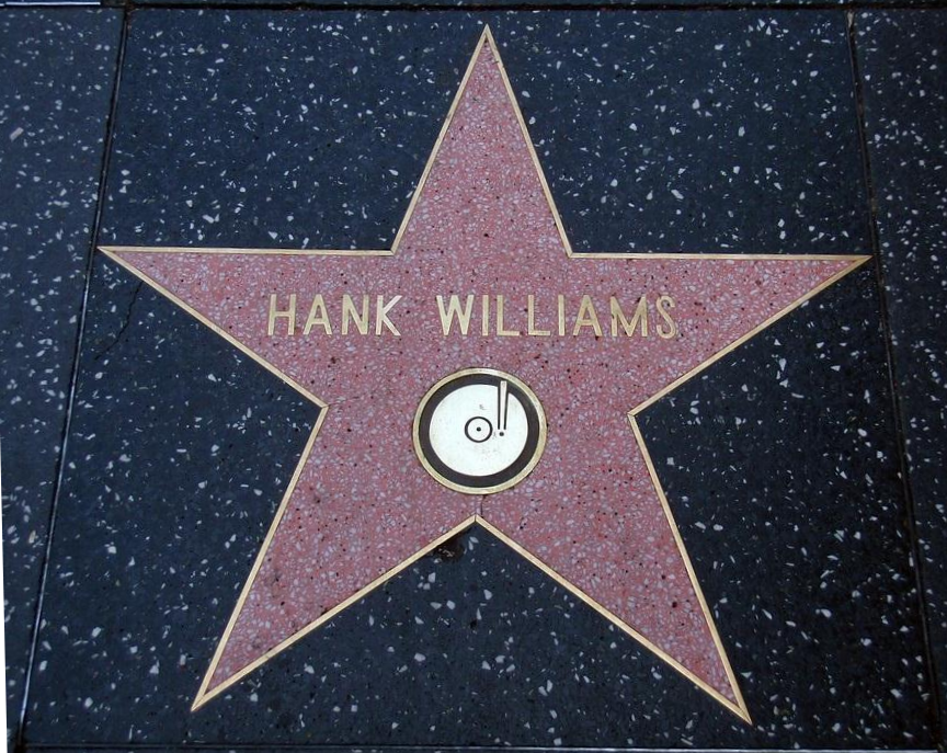 Hank Williams Walk of Fame Star - cropped