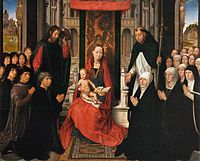 Hans Memling - Virgin and Child with Sts James and Dominic - WGA14952.jpg