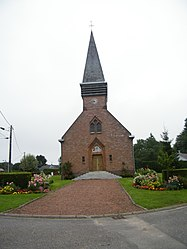 The church in Hardecourt-aux-Bois