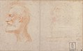 Head of a Bearded Man in Profile to Left, possibly the Portrait of the Poet Giorgio Anselmi (ca. 1459-1528), with Faint Sketch of a Skull-like Head MET 1973.321.jpg