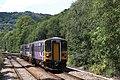 Hebden Bridge - Arriva 153378+158784 arriving from Chester.JPG