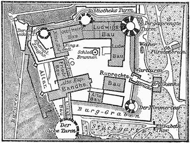 Heidelberg Schloss Plan MK1888