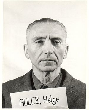 Helge Auleb - Helge Auleb as a witness during the Nuremberg Trials