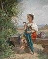 Hermann von Bohn Römisches Mädchen auf der Rast 1869.jpg