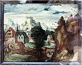 Herri met de bles detto il civetta (cerchia), paesaggio frammentario con castello, xvi secolo.JPG