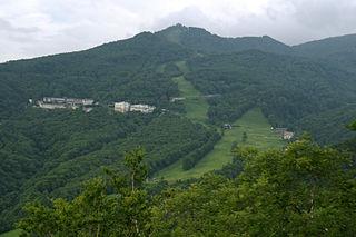 Mount Higashidate mountain in Japan