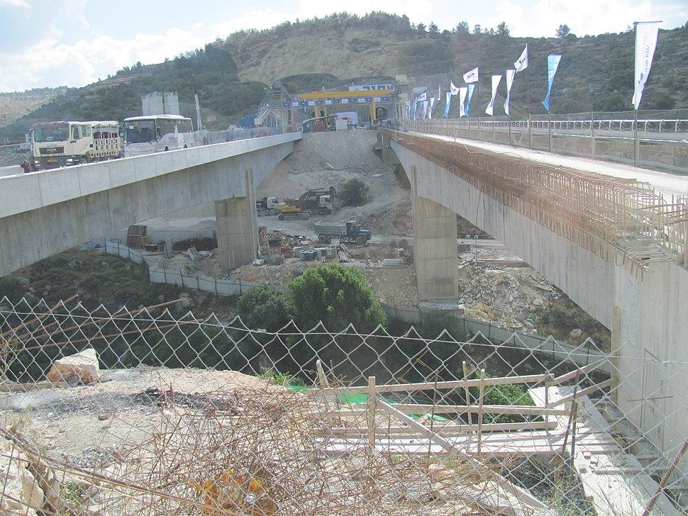 High-speed railway to Jerusalem Bridge 8 Nahal Itle