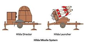 121 Squadron SAAF - Hilda missile system