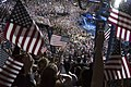Hillary Clinton arrives on stage at the DNC on Thursday night (28599450646) (2).jpg
