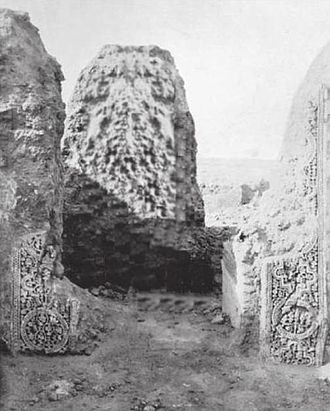 Lakhmids - The ruins of a building in al-Hira, the Lakhmids' capital city,
