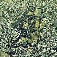 Hirosaki Castle aerial photo